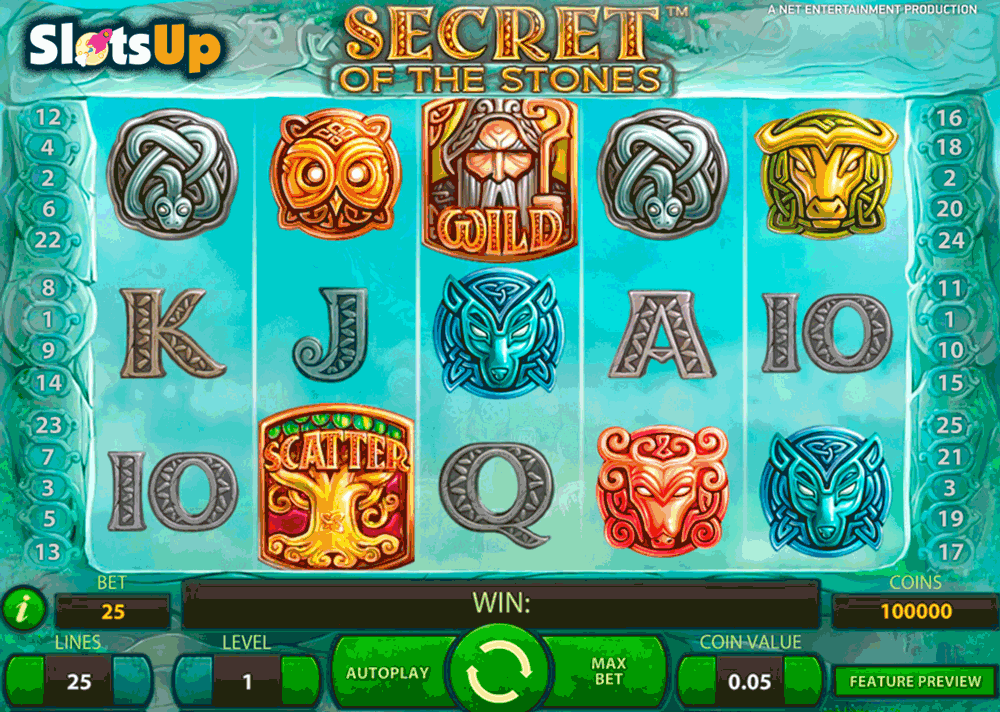 SECRET OF THE STONES NETENT CASINO SLOTS