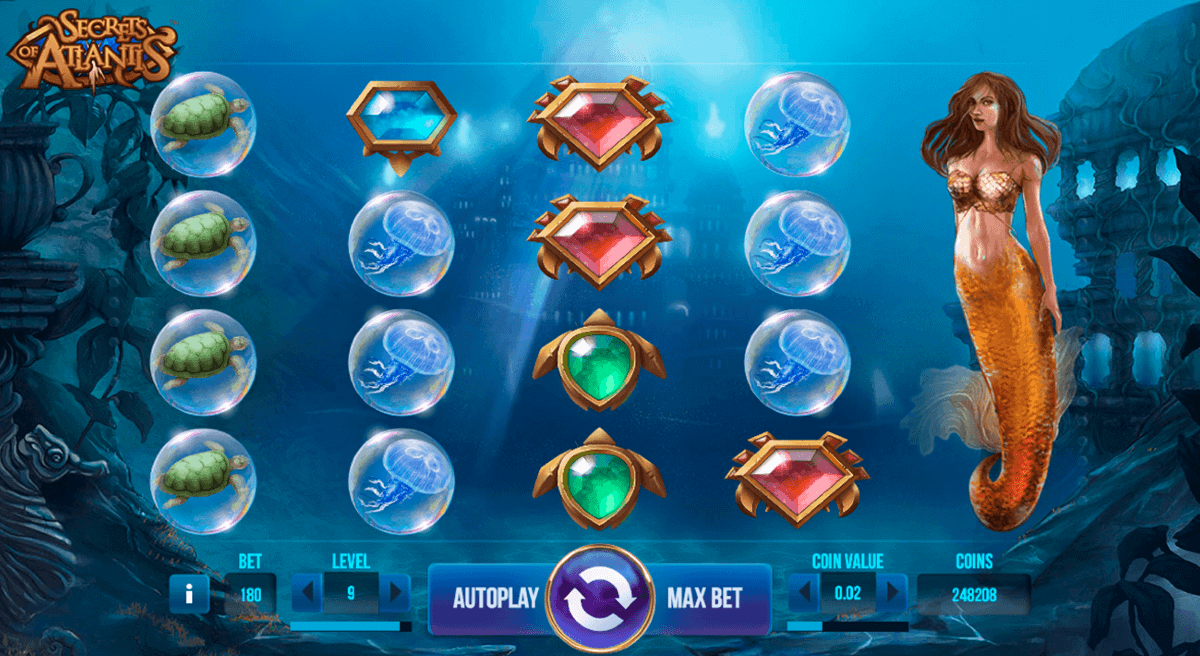 secrets of atlantis netent casino slots
