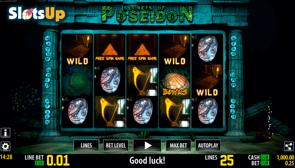 SECRETS OF POSEIDON HD WORLD MATCH CASINO SLOTS