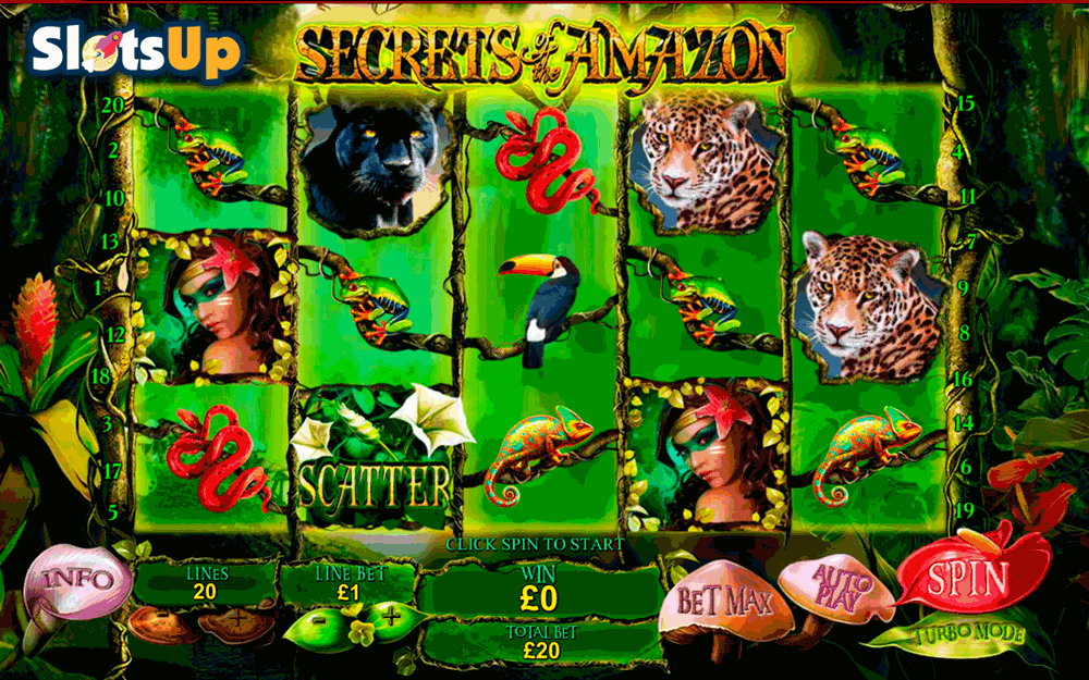 secrets of the amazon playtech casino slots
