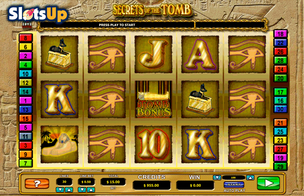 SECRETS OF THE TOMB LEANDER CASINO SLOTS