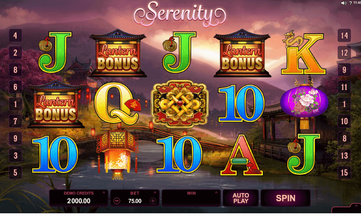 Serenity Slot Machine for Real Money - Rizk Casino