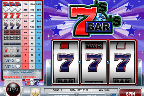 sevens and bars rival casino slots 480x320