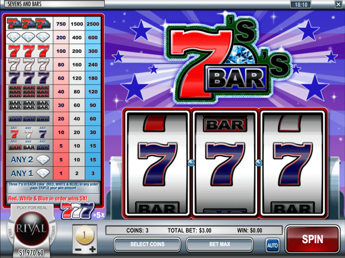 7s & Bars Slots Free Play & Real Money Casinos