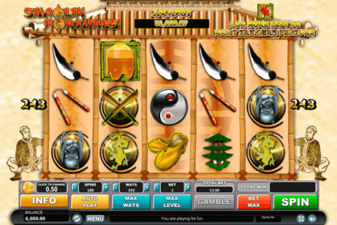 SHAOLIN FORTUNES HABANERO SLOT MACHINE