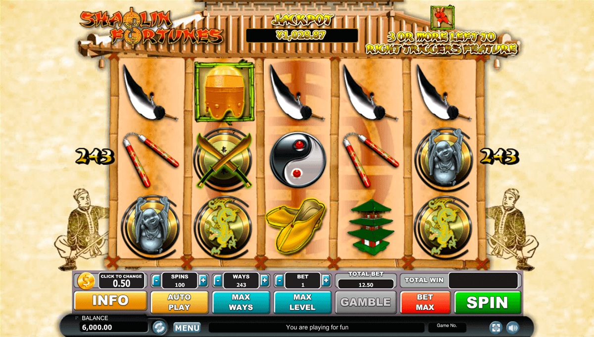 Shaolin Fortunes Slots - Play Online for Free or Real Money
