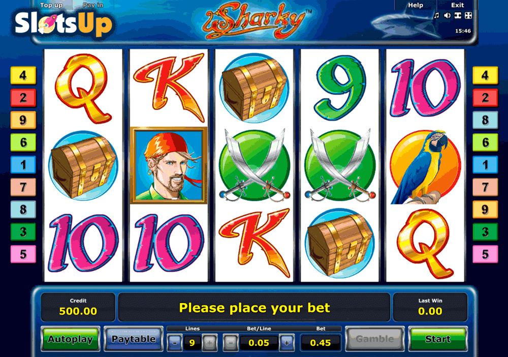 free online casino slot sharky slot