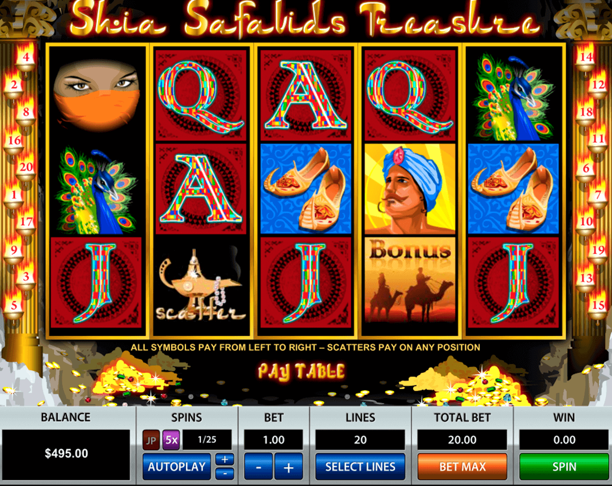 Shia Safavids Treasure Slots - Play for Free Online