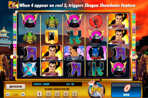SHOGUN SHOWDOWN AMAYA CASINO SLOTS