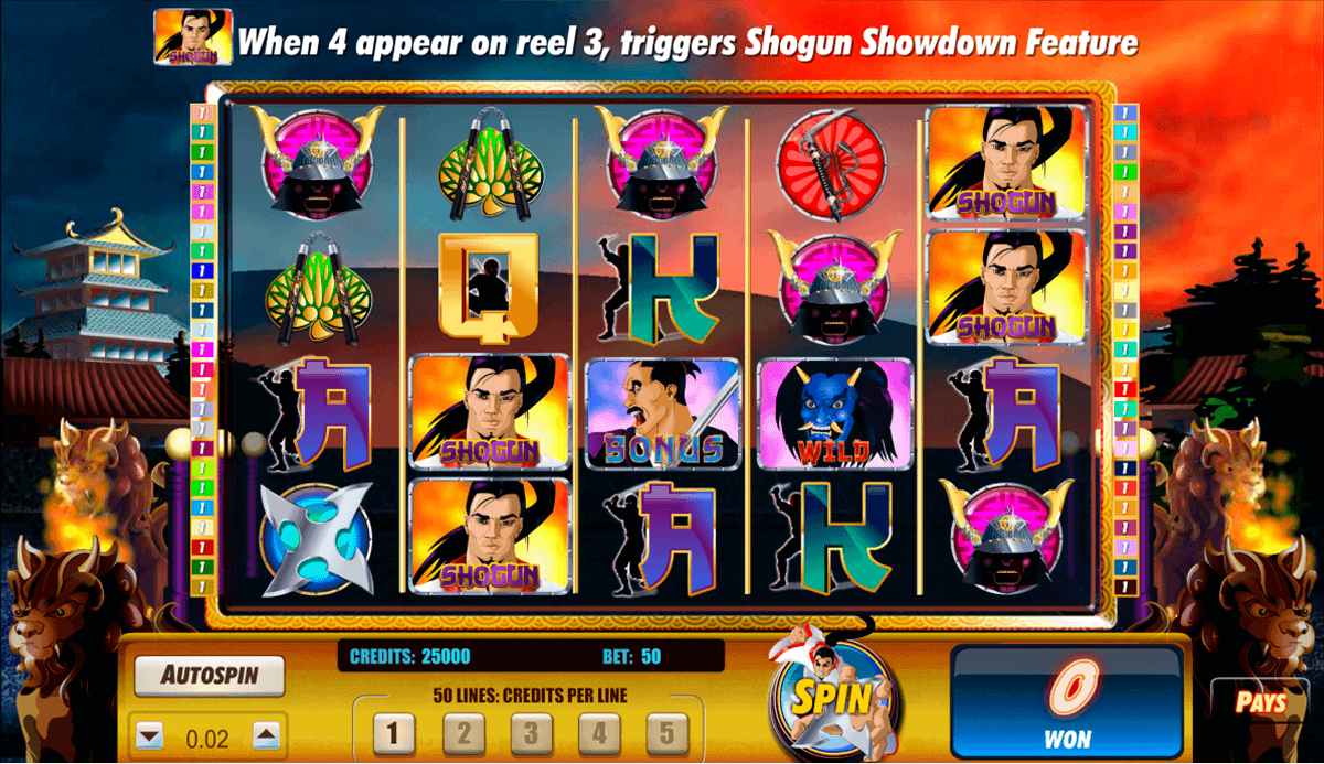 Shogun slot machine online