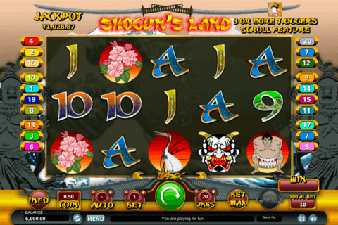 SHOGUNS LAND HABANERO SLOT MACHINE