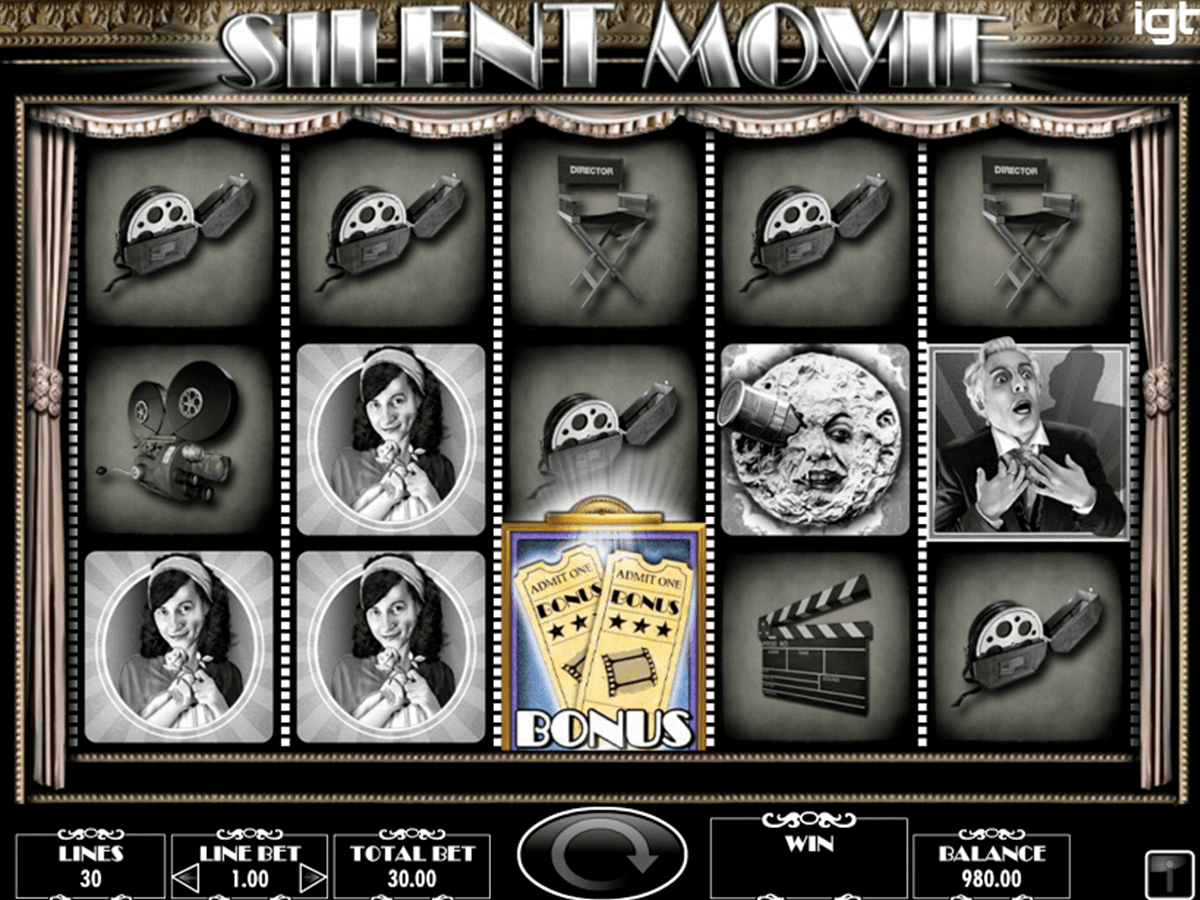 Silent Movie Slot Machine - Play Free IGT Games Online