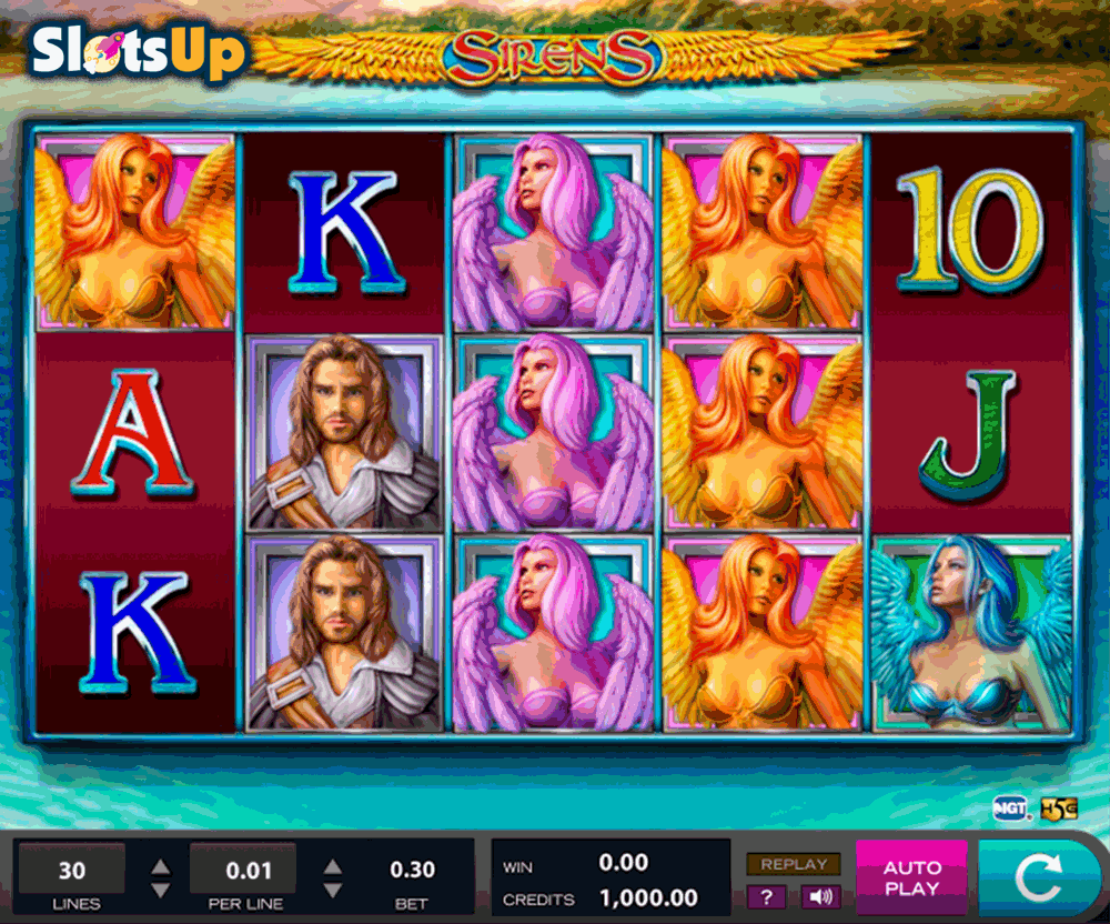 Sirens™ Slot Machine Game to Play Free in Cryptologics Online Casinos