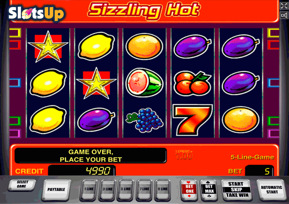 online casino slot sizlling hot