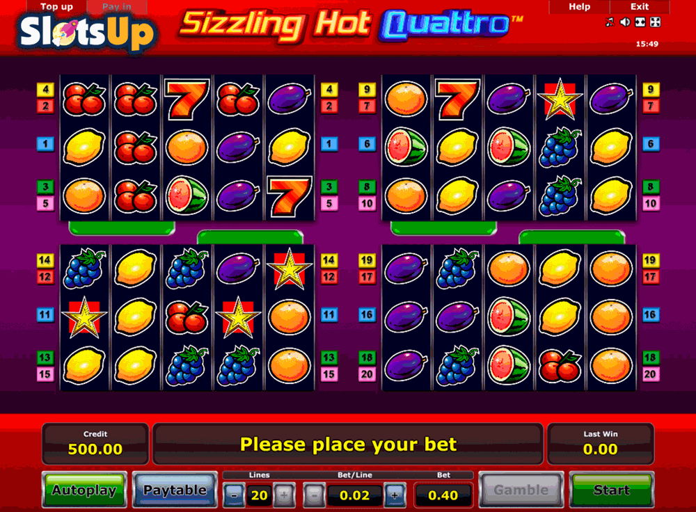 novomatic online casino sizzling hot games