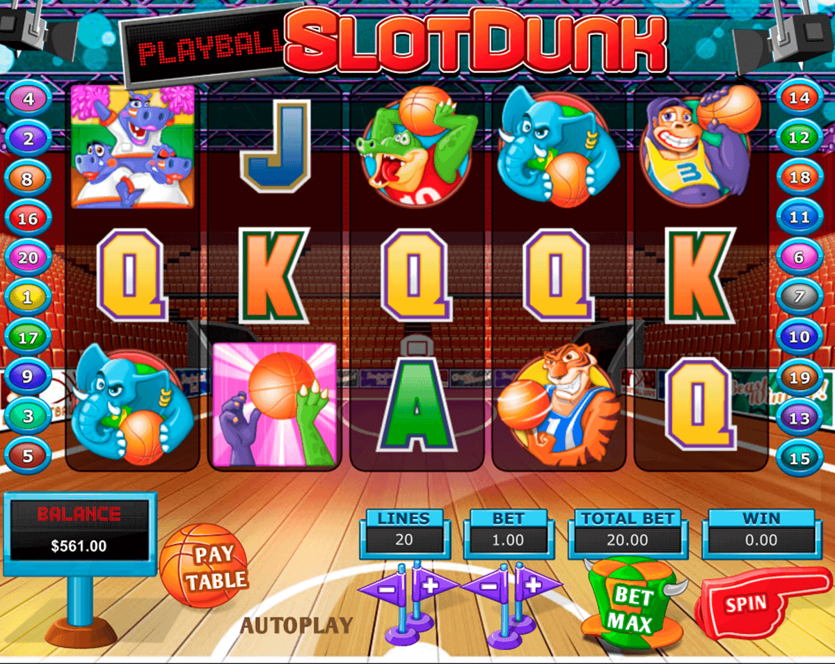 Slot Dunk Slot Machine - Try your Luck on this Casino Game