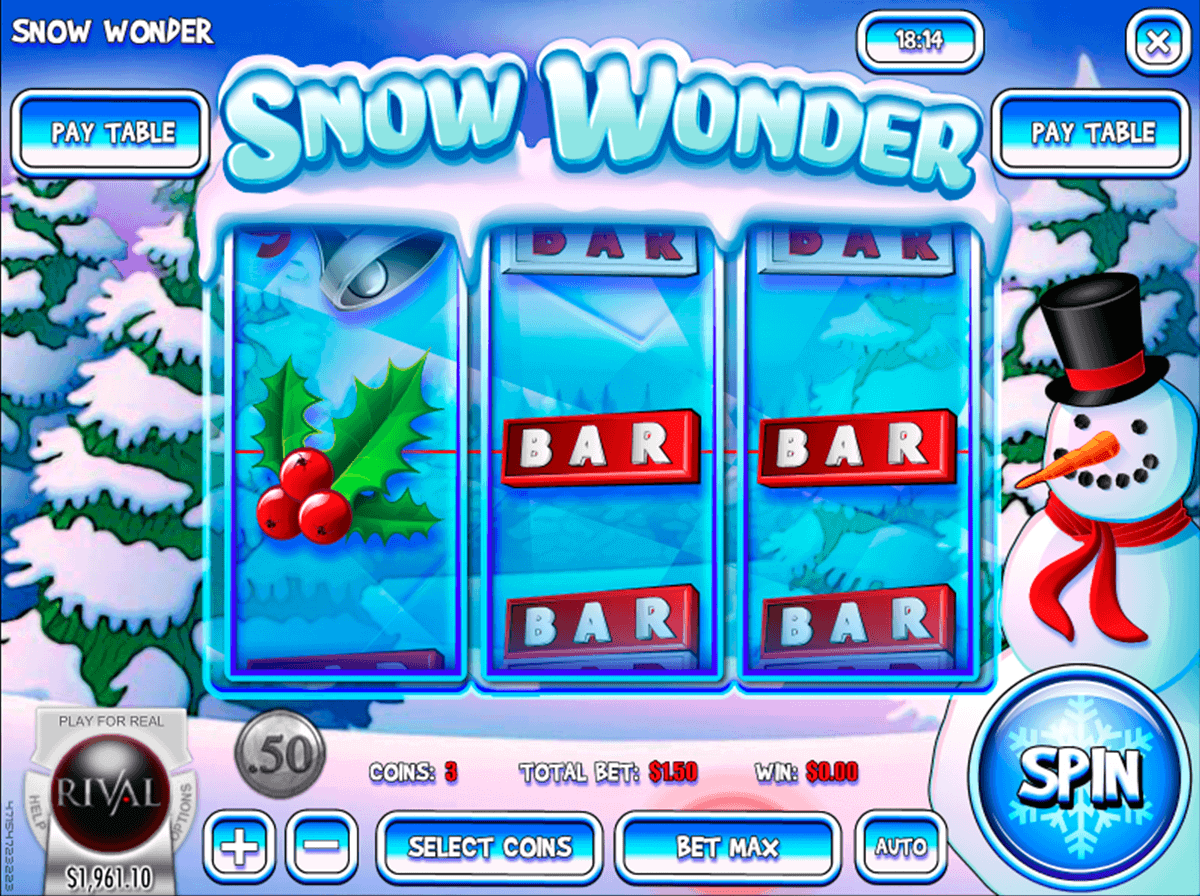 snow wonder rival casino slots