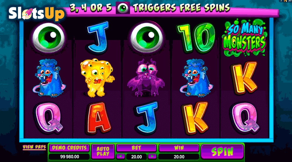 SO MANY MONSTERS MICROGAMING CASINO SLOTS