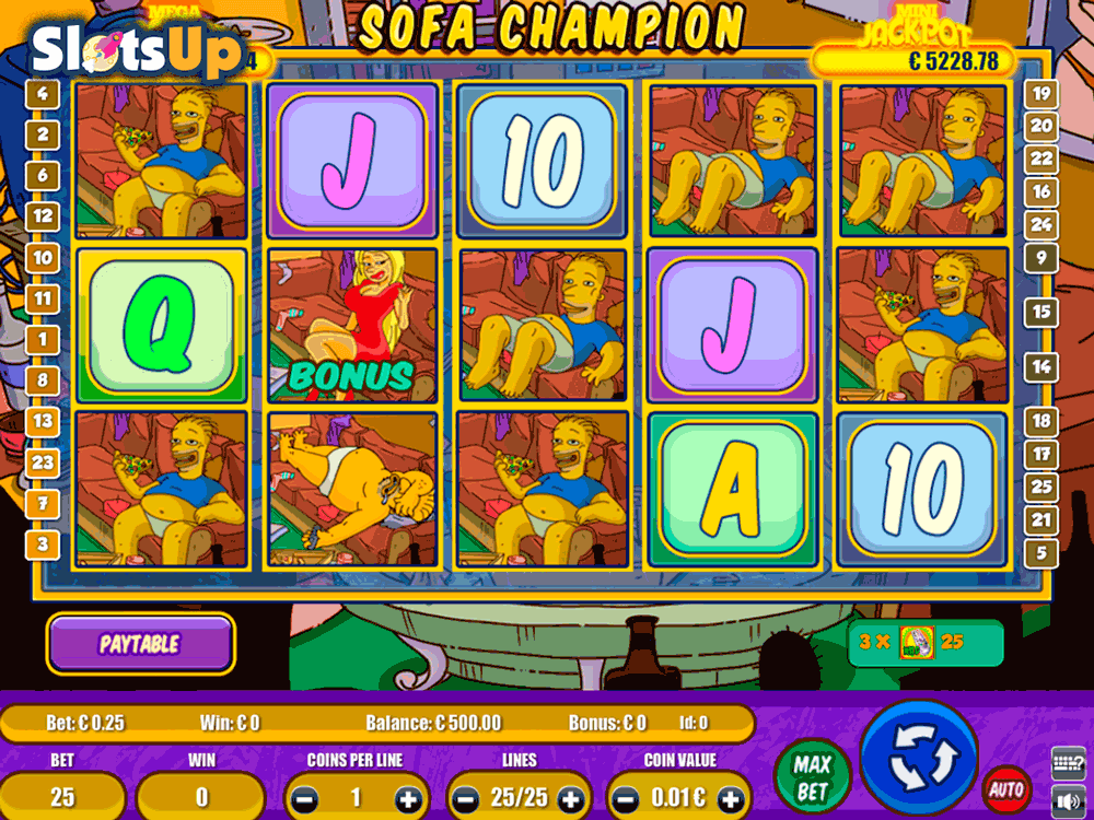 Sofa Champion Slot - Play for Free Instantly Online