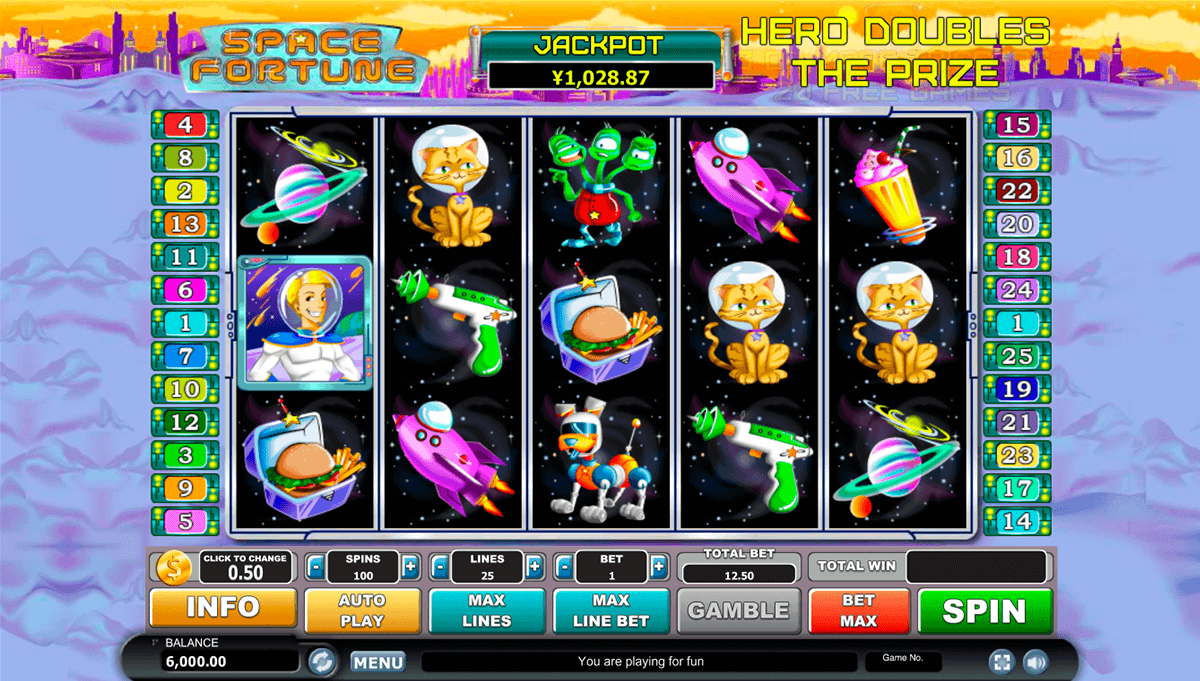 SPACE FORTUNE HABANERO SLOT MACHINE