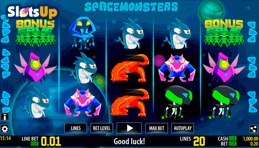 space monsters hd world match casino slots