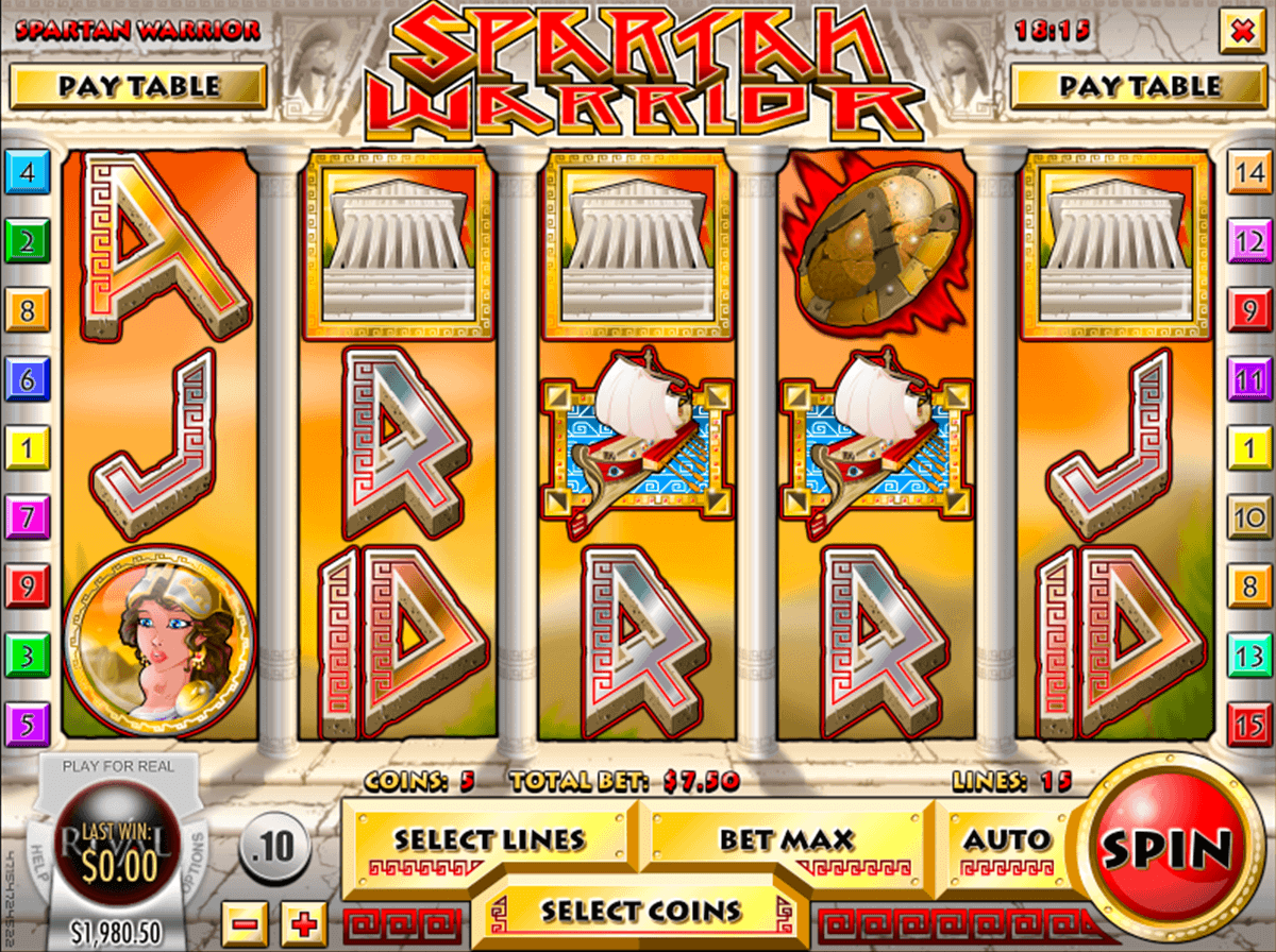 spartan warrior rival casino slots