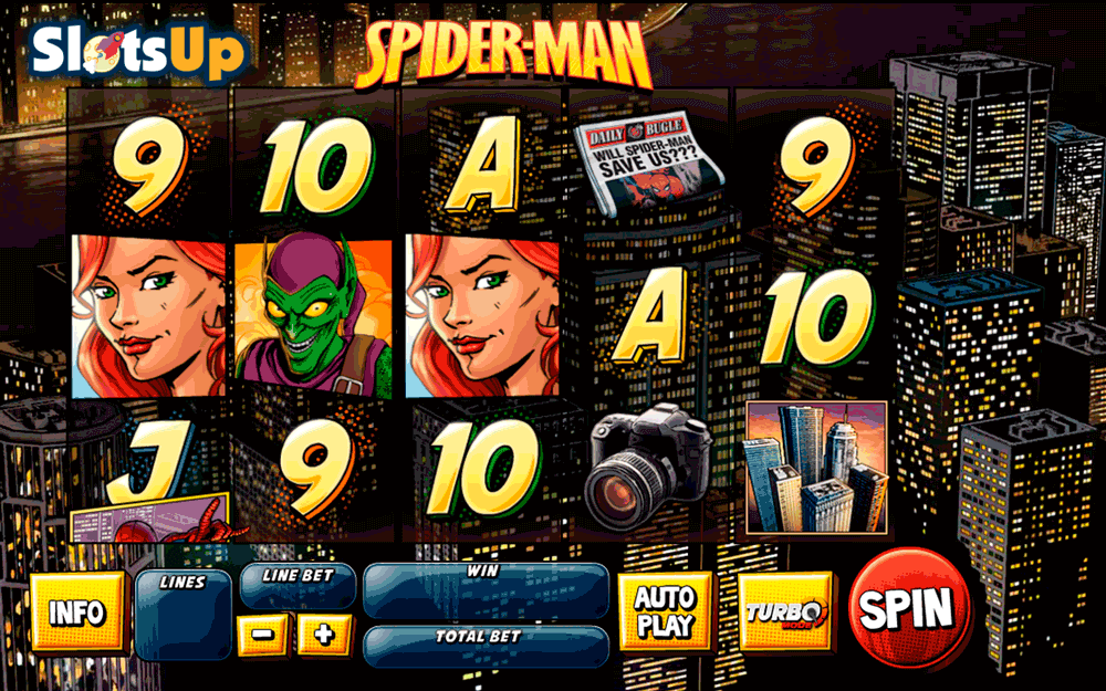SPIDER MAN ATTACK OF THE GOBLIN PLAYTECH CASINO SLOTS