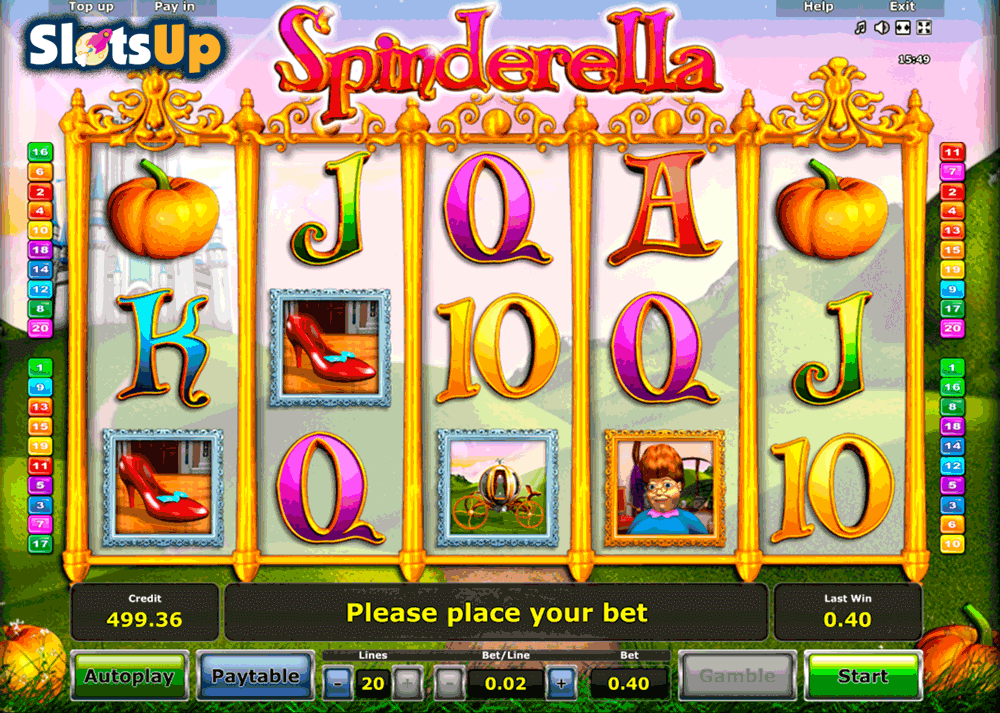 slot machines online free spinderella