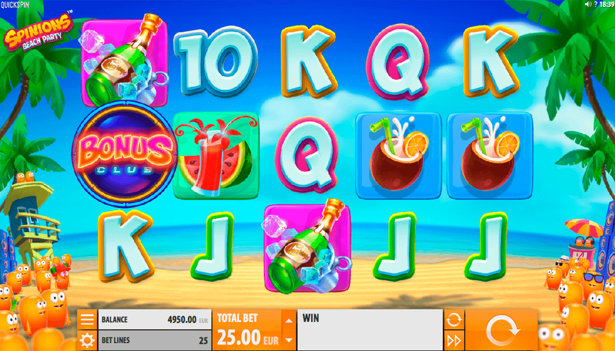 Spinions Beach Party™ Slot Machine Game to Play Free in QuickSpins Online Casinos