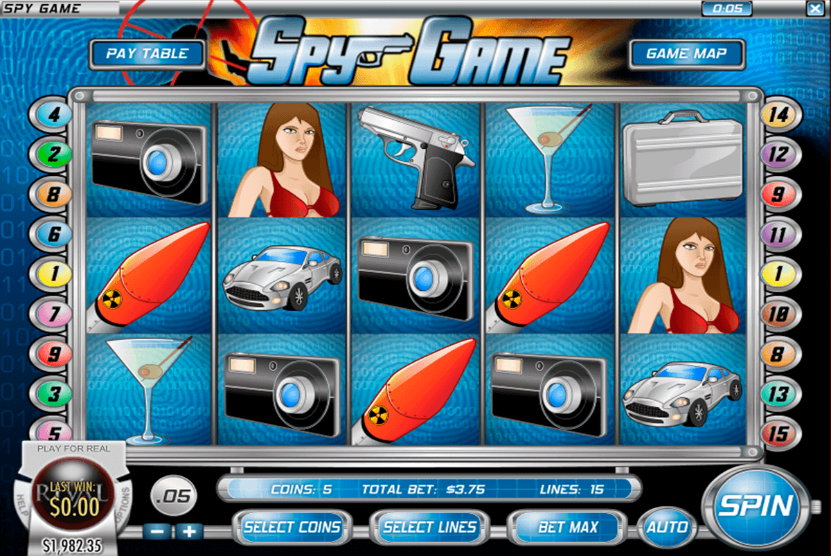 Spy vs Spy Slot Machine - Preview this WMS Game
