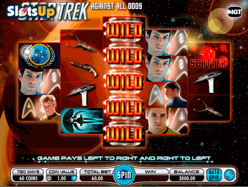 STAR TREK AGAINST ALL ODDS IGT CASINO SLOTS