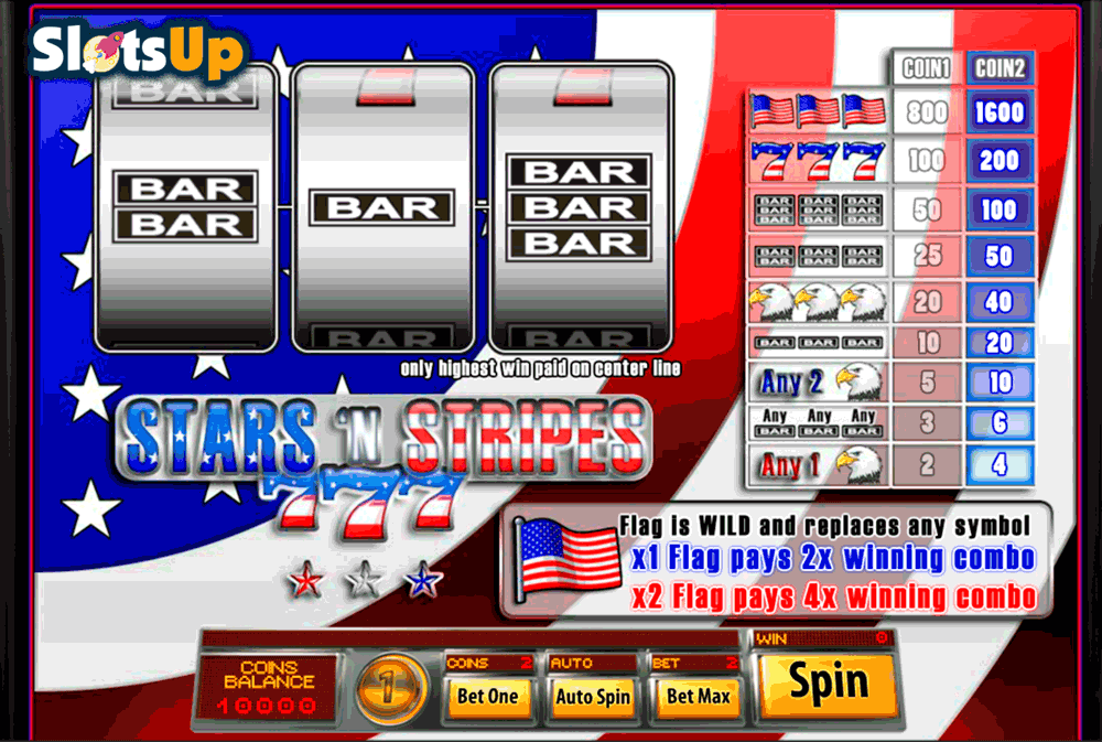 Stars And Stripes™ Slot Machine Game to Play Free in Saucifys Online Casinos
