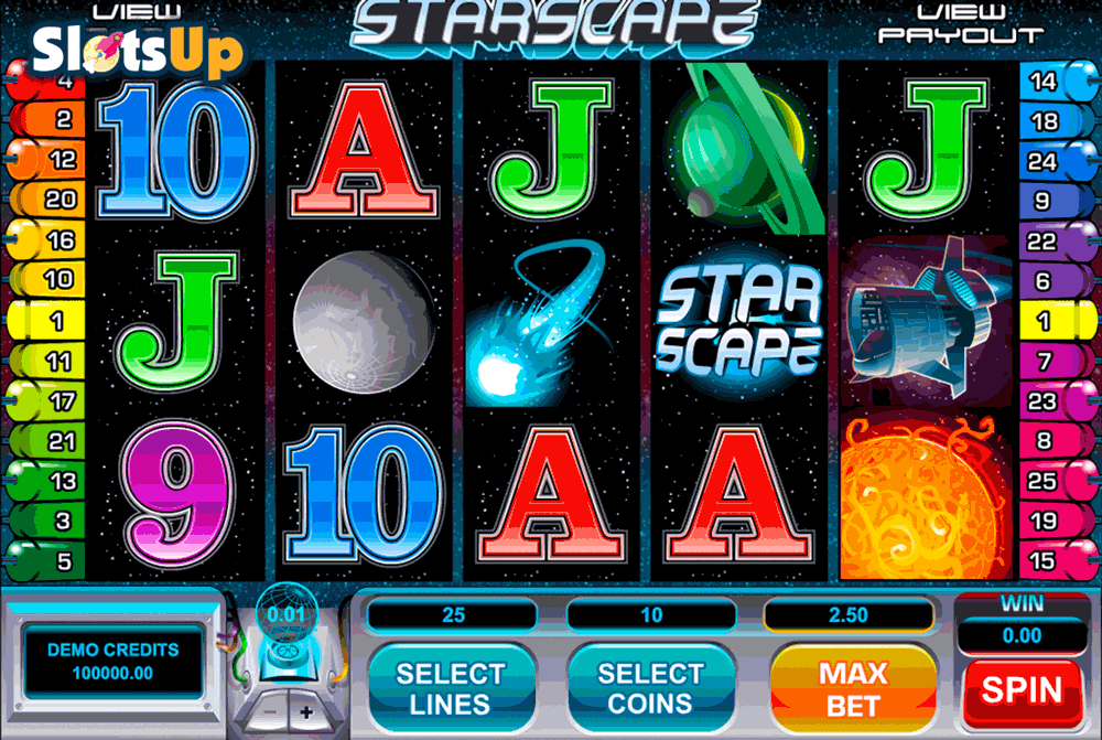 Starscape Slots - Free Online Casino Game by Microgaming