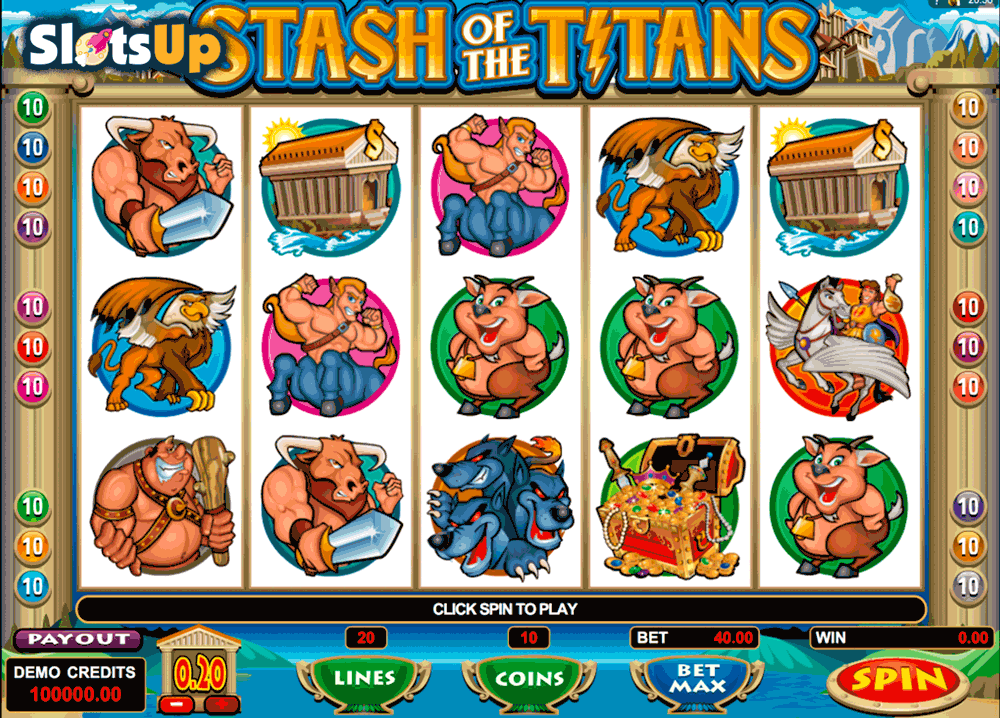STASH OF THE TITANS MICROGAMING CASINO SLOTS