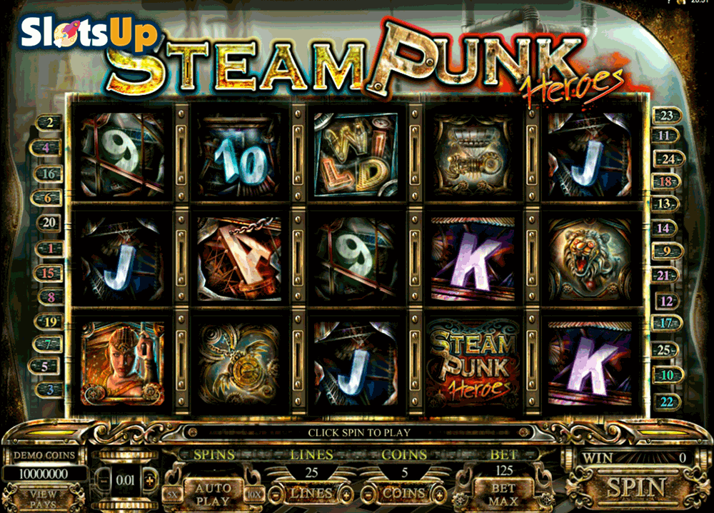 steam punk heroes microgaming casino slots