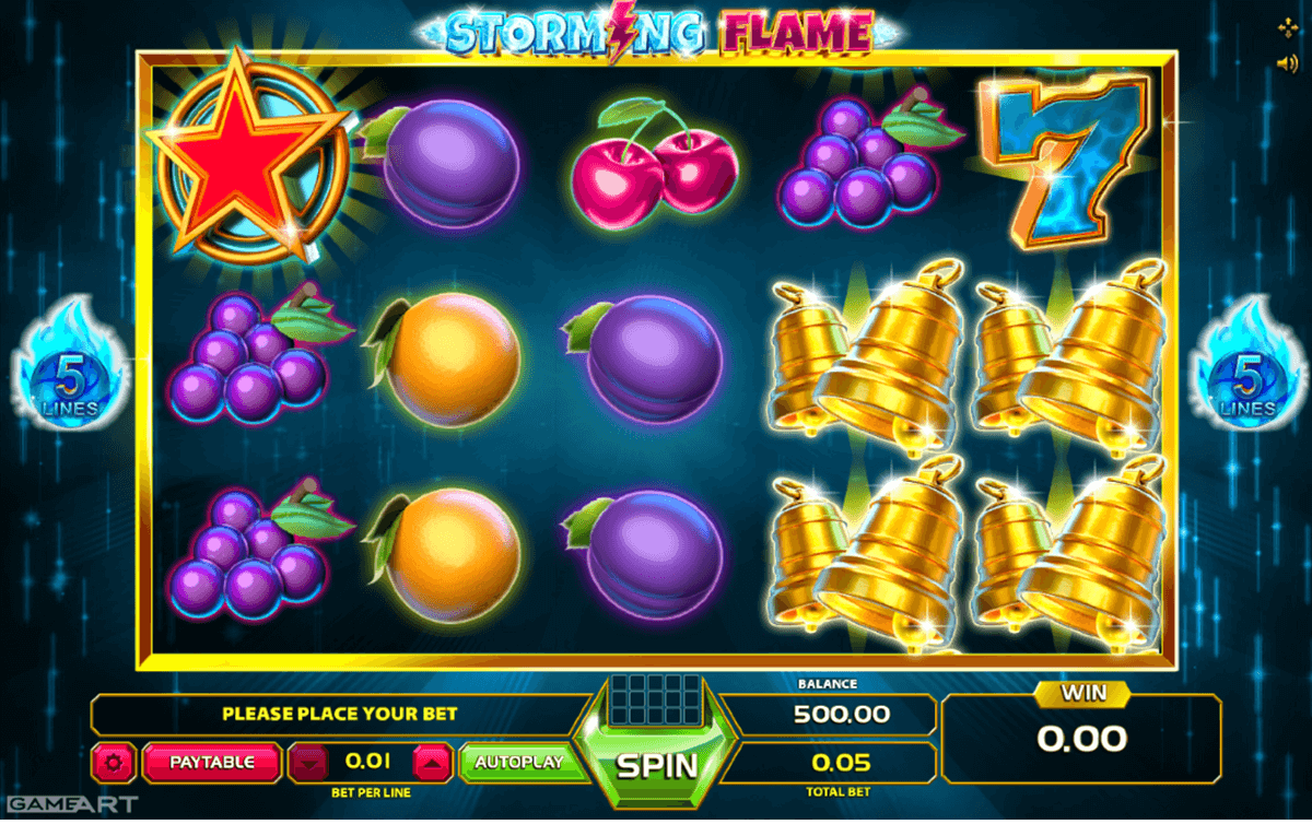 Storming Flame Slot Machine Online ᐈ GameArt™ Casino Slots
