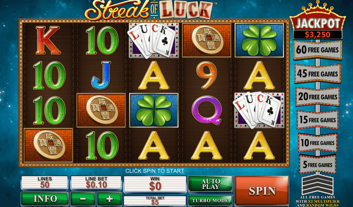 Play Streak of Luck Online Slots at Casino.com Canada