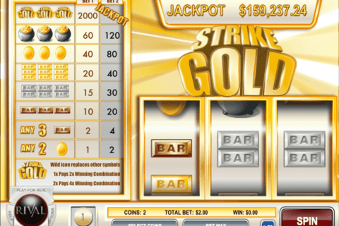 strike gold rival casino slots