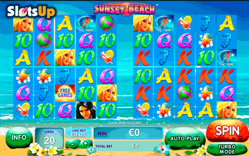 Play Sunset Beach Slots Online at Casino.com India