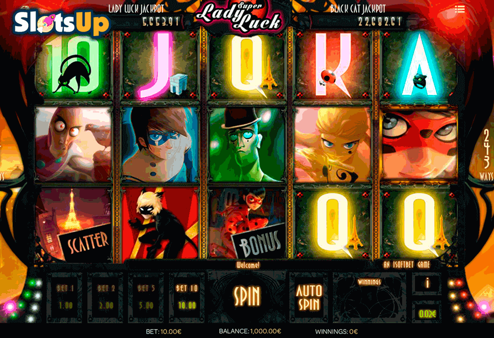SUPER LADY LUCK ISOFTBET CASINO SLOTS