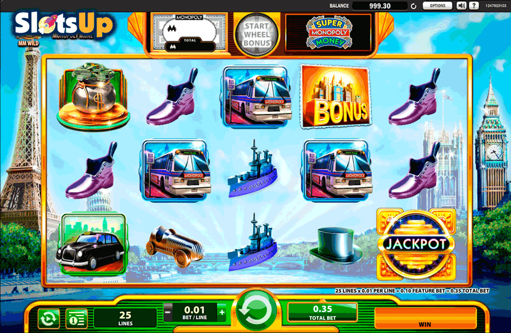 SUPER MONOPOLY MONEY WMS CASINO SLOTS