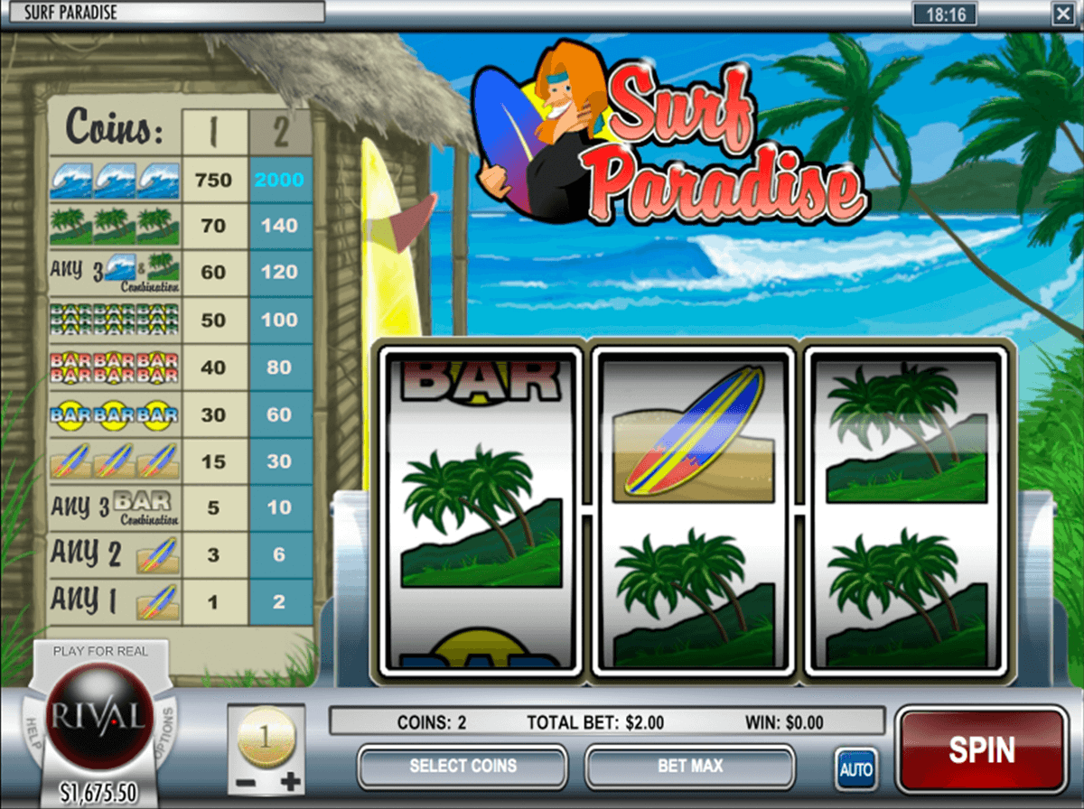 Surf Paradise™ Slot Machine Game to Play Free in Rivals Online Casinos