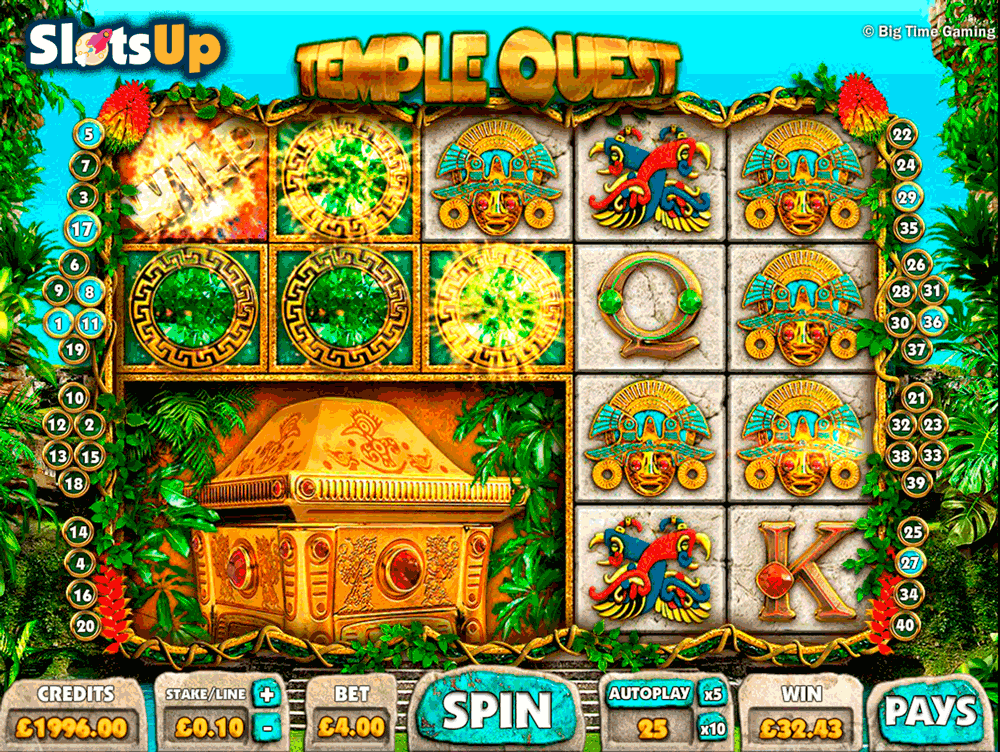 Temple Quest Slot Machine Online ᐈ Big Time Gaming™ Casino Slots