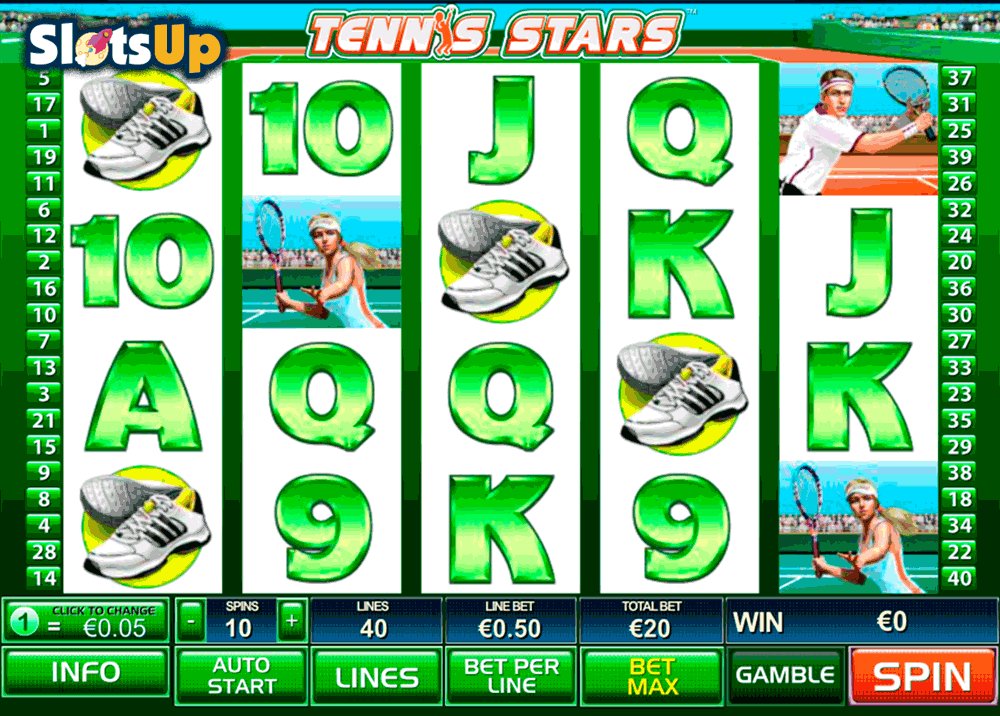 Tennis Stars™ Slot Machine Game to Play Free in Playtechs Online Casinos