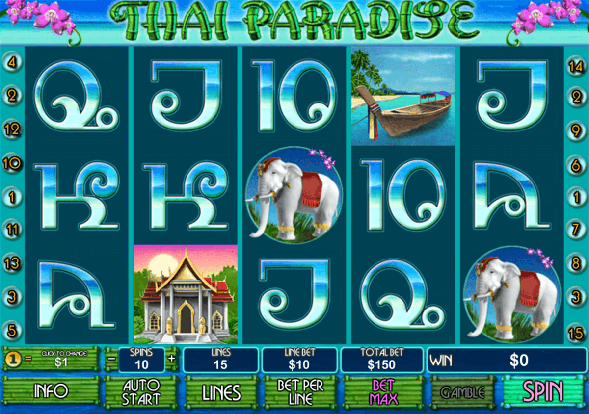 Play Thai Paradise Slots Online at Casino.com NZ