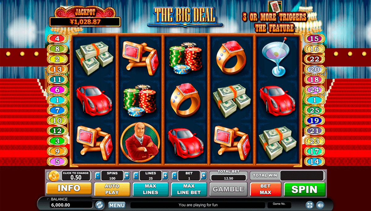 The Big Deal Slot Machine - Play the Free Casino Game Online