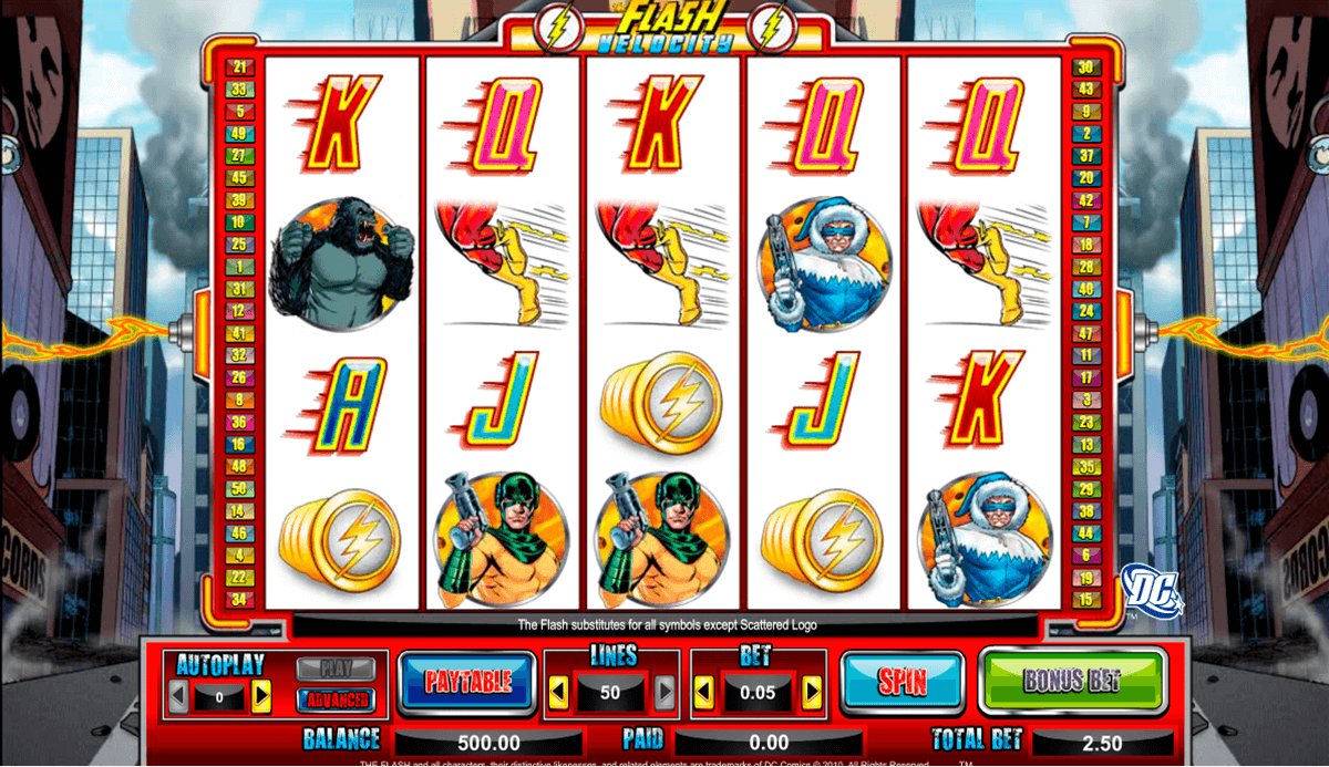 The Flash Velocity Online Slot Machine - NYX Gaming