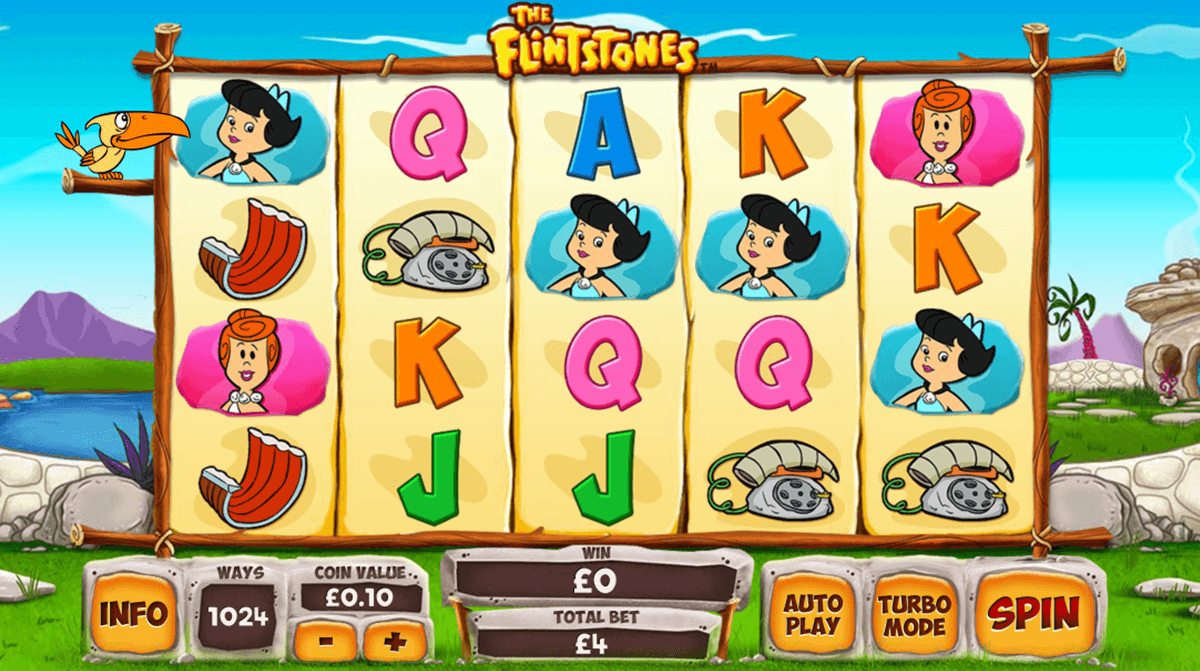 Flintstones Slot Review - New Flintstones Slot Game by WMS