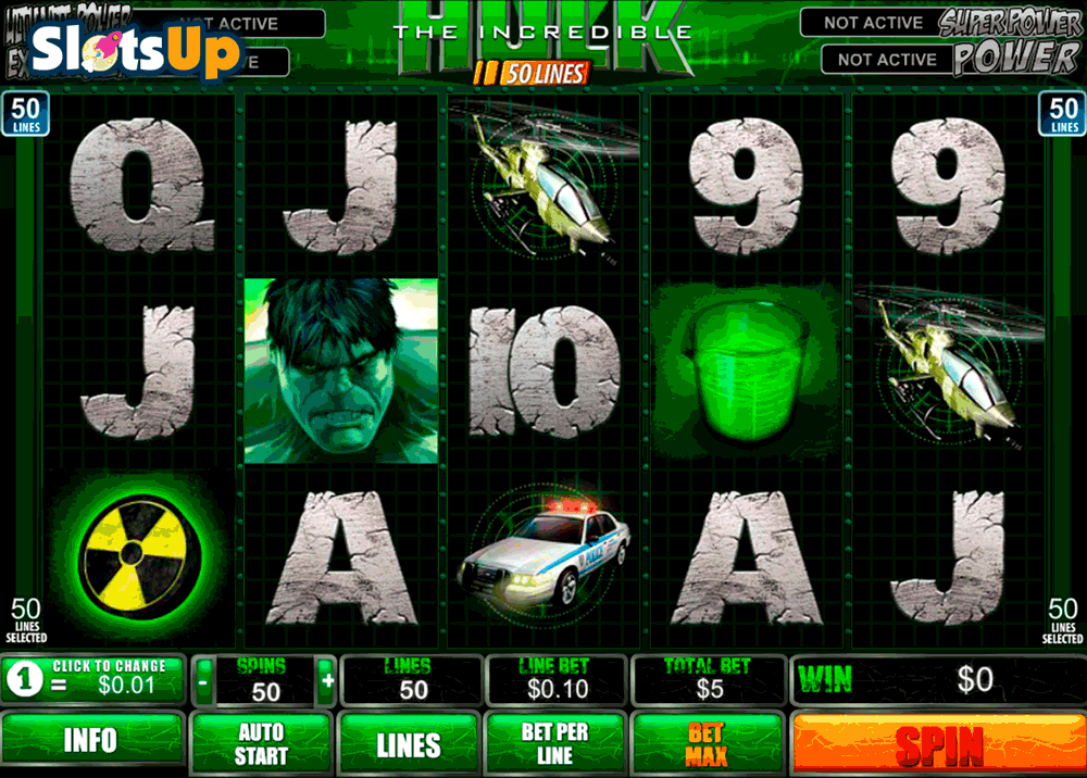 The Hulk 5-Reels™ Slot Machine Game to Play Free in Cryptologics Online Casinos