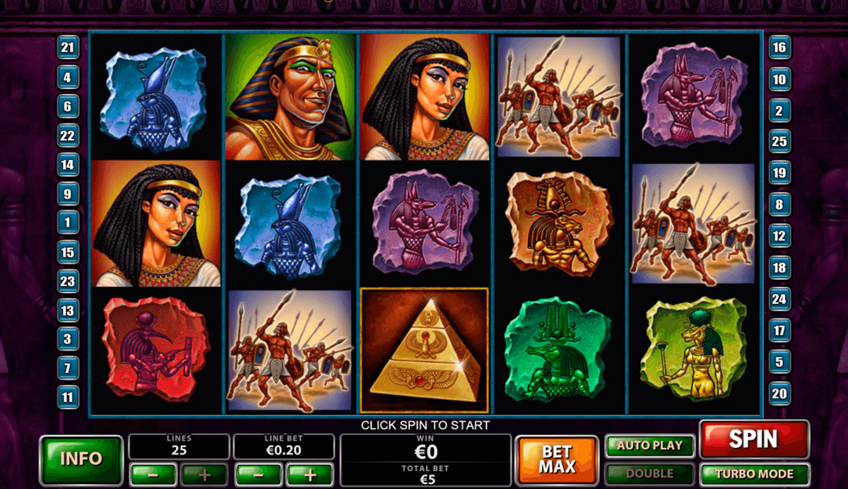 Play The Pyramid of Ramesses online slots at Casino.com